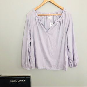 NWT Lou & Gray Lilac Cotton Long Sleeved Top